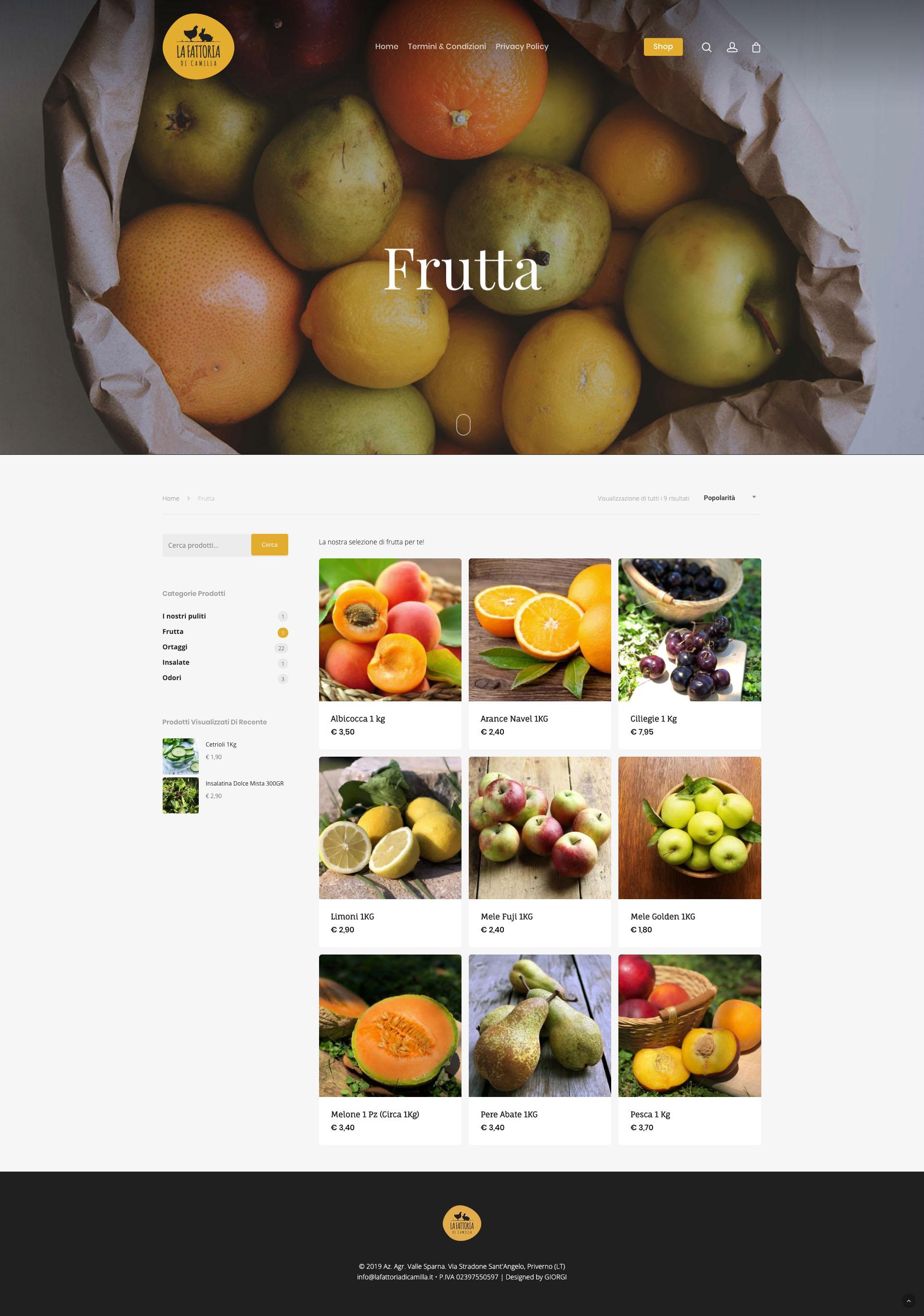 Giorgi Design Studio - La Fattoria di Camilla - Frutta Shop