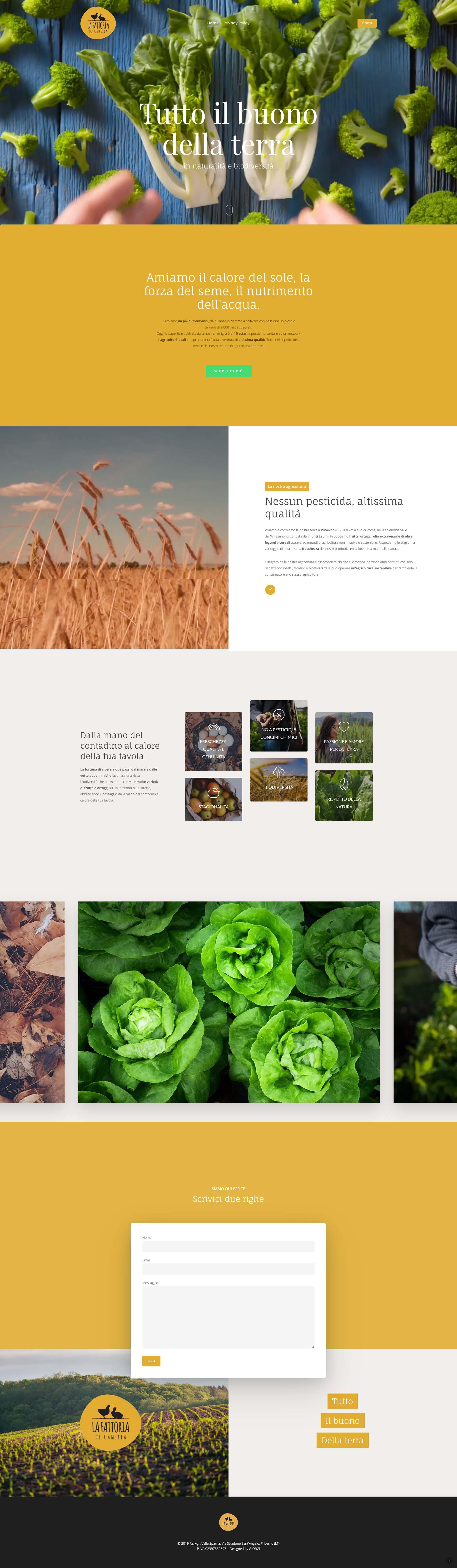 Giorgi Design Studio - La Fattoria di Camilla - Web Design