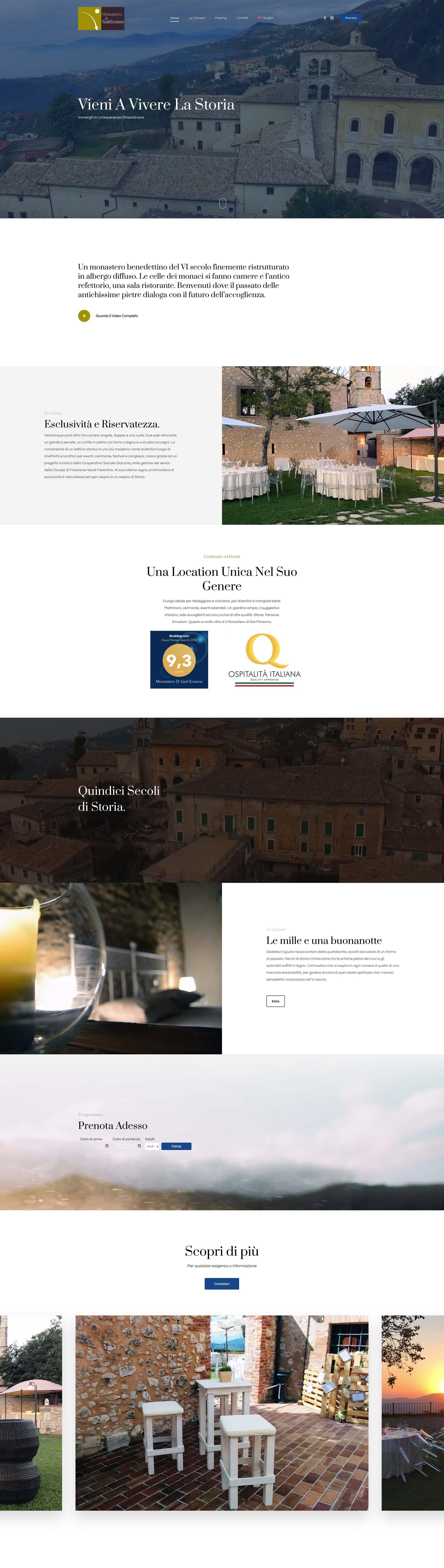 Giorgi Design Studio - Monastero San Erasmo - Web Design - Home Page