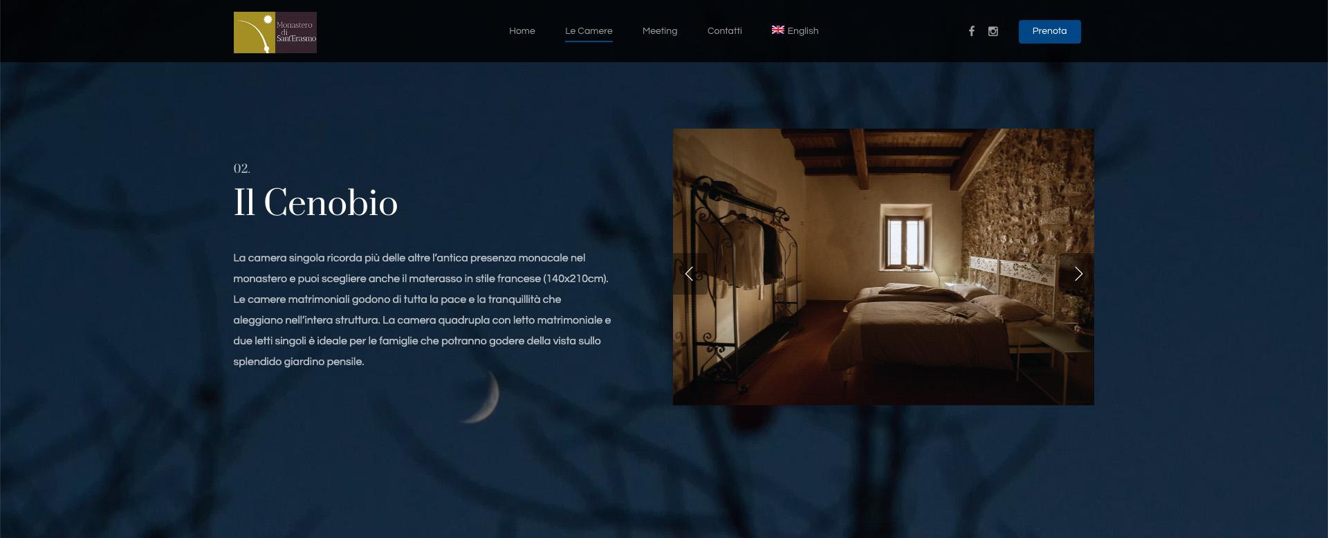 Giorgi Design Studio - Monastero San Erasmo - Web Design - Il Cenobio
